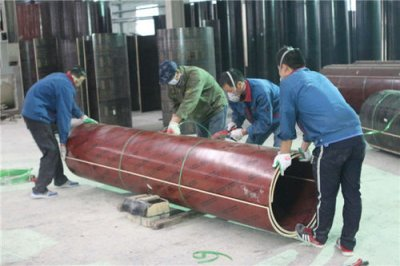 New wooden circular column formwork, new technology, new process, high efficiency