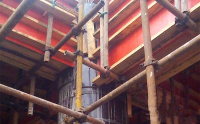 4 ways to connect wooden building circular column formwork with other building materials: