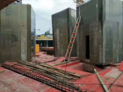 12 sets lift shaft formwork onsite