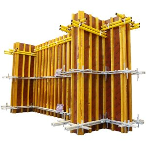 Installation steps of shear wall formwork