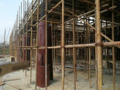 The formwork of the circular column formwork is updated four times
