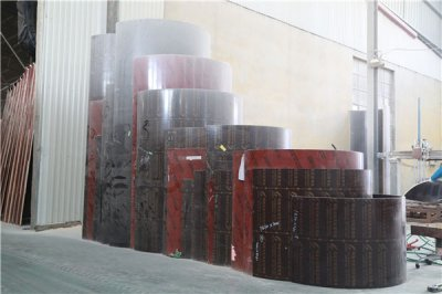 What is the thickness of the circular column formwork you produce